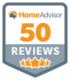 Over 50 Reviews on HomeAdvisor