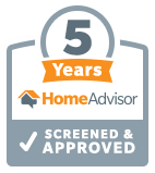 5 Years Screened and Approved on HomeAdvisor