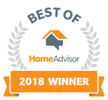 Best of HomeAdvisor 2018 Award Winner